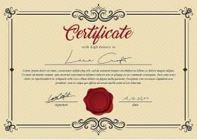 欧式边框大气通用商务授权书证书模板