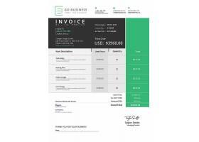 金融税务发票主题通用模板设计