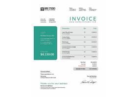 商务金融企业发票主题通用模板设计