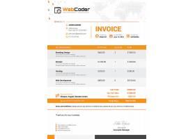 创意时尚商务金融发票主题通用模板设计