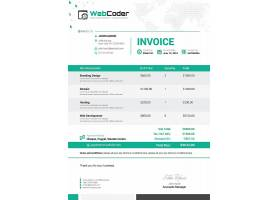 Web_Co创意时尚商务金融发票主题通用模板设计
