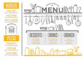 餐厅菜单通用模板