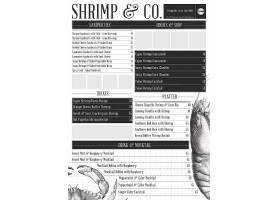 海蟹螃蟹河虾小虾菜单套餐菜单模板