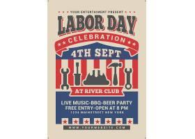 劳动节主题复古海报设计