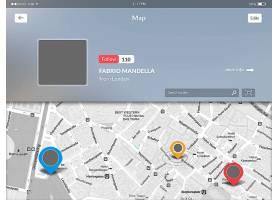 时尚简洁朦胧感手机APP移动应用程序地图导航UI界面设计