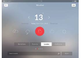 时尚简洁朦胧感手机APP移动应用程序UI界面设计