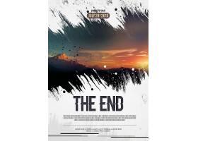 电影结束主题海报设计