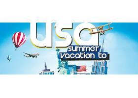 美国旅游宣传海报
