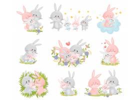 彩色卡通兔子设计