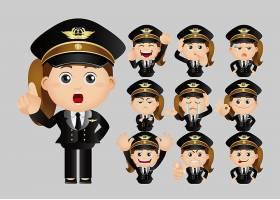 警察卡通人物