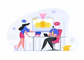 商务职场沟通人物形象活动插画设计