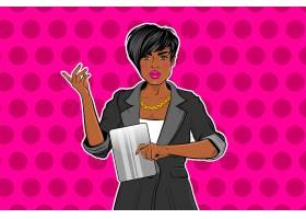 商务职场女性主题美式漫画风格人物形象活动插画设计