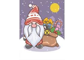 圣诞节圣诞老人卡通形象人物形象活动插画设计