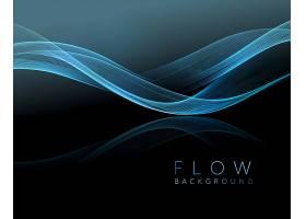 矢量抽象流动线条艺术海报