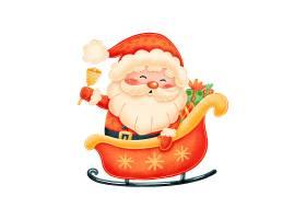 送礼的圣诞老人插画设计