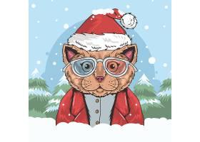 创意圣诞节风格卡通动物