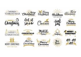 圣诞节图标LOGO设计素材
