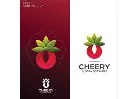 水果果实主题矢量LOGO图标徽章设计
