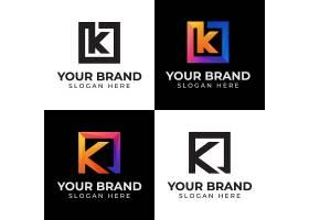 商务通用字母K主题矢量LOGO图标徽章设计
