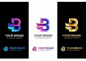 商务通用字母B主题矢量LOGO图标徽章设计