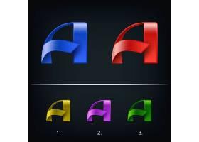 字母A主题矢量LOGO图标徽章设计