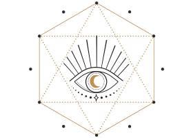 眼睛星阵主题装饰图案设计