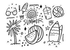 夏天主题个性插画设计