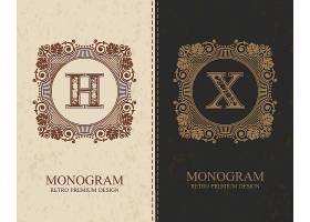 大写字母复古欧式边框设计