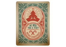 卡牌卡片风格复古欧式花纹边框英语标签标贴设计
