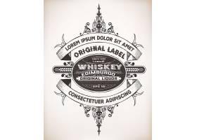 复古欧式花纹边框英语标签标贴设计