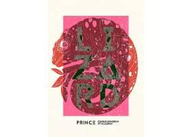 蜥蜴变色龙图案背景主题海报设计