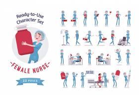 医生护士人物角色形象动作设计