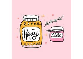 蜂蜜主题插画设计