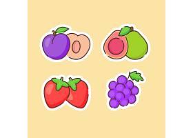 草莓葡萄主题插画设计
