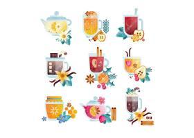 多样冷饮果汁饮品插画设计