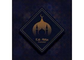 伊斯兰教开斋节斋月节主题装饰背景