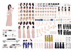 美容美发人物模型设计