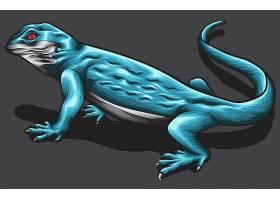蓝色蜥蜴设计