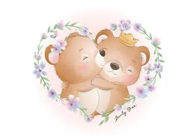 创意小清新卡通熊插画