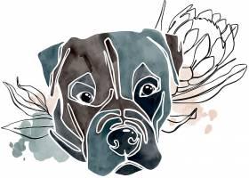 狗狗创意元素