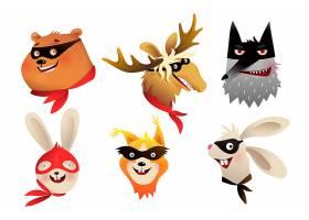 创意卡通狐狸动物集