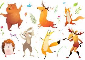 卡通动物集合