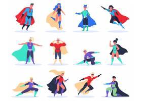 披风人物英雄人物形象活动插画设计