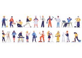 不同职业的人人物形象活动插画设计