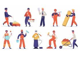 施工人员人物形象活动插画设计