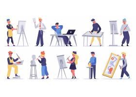 美术艺术家绘画家人物形象活动插画设计