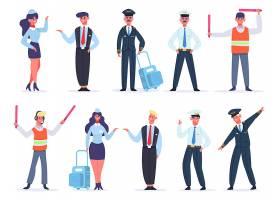 安检保安人员人物形象活动插画设计