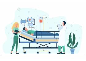急救与手术人物形象活动插画设计