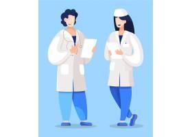 医生护士交流人物形象活动插画设计