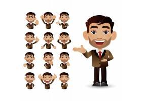 商务职场男性人物形象活动插画设计